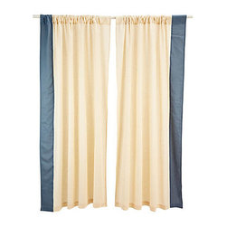 Divine Designs - Border Curtain Panel- Gray - This curtain panel will add a vibrant and sleek style to your living room. Sold as one panel.