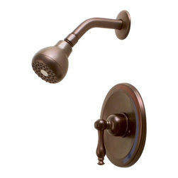 PREMIER - Wellington Single-Handle Ceramic Disc Shower Set Parisian Bronze - Premier offers stylish shower faucets that complement our Wellington kitchen and lavatory faucets by providing matching handle designs and brilliant finishes. Wellington's pressure balanced valve (single-handle models) prevents cold water shock and hot water scalding due to unexpected changes in water pressure-enjoy consistent temperatures with Wellington single-handle tub and shower faucets. This model is featured in our elegant Parisian bronze finish. The transitional designs of Wellington shower faucets complement any bathroom decor. Add a touch of luxury to your bath with Wellington faucets.