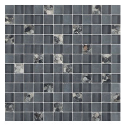 Serene Battleship Grey Glossy & Matt Square Pattern Glass Mosaic Tiles, Sheet - 1 in. x 1 in. Serene Battleship Grey Mesh-Mounted Square Pattern Glass Mosaic Tile Pebble Deco Inserts is a great way to enhance your decor with a traditional aesthetic touch. This Glossy & Matt Mosaic Tile is constructed from durable, impervious Glass material, comes in a smooth, unglazed finish and is suitable for installation on floors, walls and countertops in commercial and residential spaces such as bathrooms and kitchens.