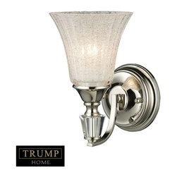 Elk Lighting - Elk Lighting 11200/1 Lincoln Square Transitional Wall Sconce in Polished Nickel - Elk Lighting 11200/1 Lincoln Square Transitional Wall Sconce in Polished Nickel. The Lincoln Square Collection Presents A Rich, Classic Shape Featuring Generous Hand-Cut Crystal Elements And A Polished Nickel Finish.
