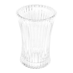 Gedy - Free Standing Round Tumbler in Glass - A designer tumbler/toothbrush holder for your designer-quality bath. Available in transparent, purple, anthracite, or sky blue and made in glass, this high quality toothbrush holder is made in Italy by Gedy and is part of the Gedy Plisse collection. Consider this round free standing tumbler/toothbrush holder. Tumbler/Toothbrush holder from the Gedy Plisse collection. Made in glass and finished with transparent, purple, anthracite, or sky blue. Designer modern & contemporary toothbrush holder for your designer master bath. Made in Italy.