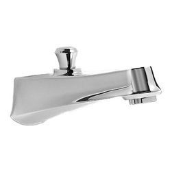 "Toto - Toto TS230EV#CP Wyeth Diverter Wall Spout - Toto's TS230EV#CP is a Wyeth Diverter Wall Spout from the Wyeth series, and it comes with a beautiful Polished Chrome finish. This wall-spout diverter features an integrated diverter, a laminar flow, a brass construction, and a 1/2"" NPT connection."