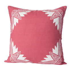 Alexandria Lotus Pillow, Rose/White