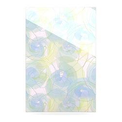 """Kess InHouse - Alison Coxon """"Blue Paper Flower"""" Metal Luxe Panel (24"""" x 36"""") - Our luxe KESS InHouse art panels are the perfect addition to your super fab living room, dining room, bedroom or bathroom. Heck, we have customers that have them in their sunrooms. These items are the art equivalent to flat screens. They offer a bright splash of color in a sleek and elegant way. They are available in square and rectangle sizes. Comes with a shadow mount for an even sleeker finish. By infusing the dyes of the artwork directly onto specially coated metal panels, the artwork is extremely durable and will showcase the exceptional detail. Use them together to make large art installations or showcase them individually. Our KESS InHouse Art Panels will jump off your walls. We can't wait to see what our interior design savvy clients will come up with next."""