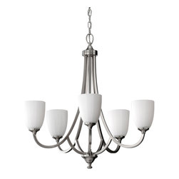 Feiss - Feiss F2584/5BS Perry Brushed Steel 5 Light Chandelier - Feiss F2584/5BS Perry Brushed Steel 5 Light Chandelier