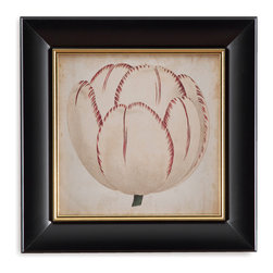 Bassett Mirror - Bassett Mirror Framed Under Glass Art, Pop Floral II - Pop Floral II