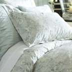 Mari Duvet Cover And Sham - Soft swirls are the perfect way to cool down the bedroom in hot summer months.