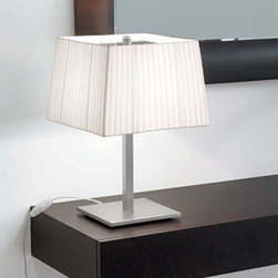 Martina Table Lamp By Modiss Lighting - Martina by Modiss is a series of contemporary lights that features a rectangular shades finished in silk ribbon.