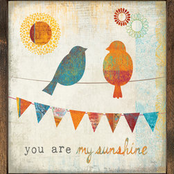 """Forest Creations - You are my sunshine - Art Print - Wall Art Print is printed and framed with 2"""" wide high quality wood.  Art is signed by its sole owner and printed."""