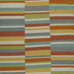 Laguna LG-06 Multi Rug - 2'x3' - Geometric patterns, vibrant colors and chic simplicity all collaborate to make the flat-weave Dhurry collection, Laguna. Made in India of 100% wool, Laguna utilizes a vibrant color palette that plays off geometric patterns often found in paving stones, basket weaves and nature.