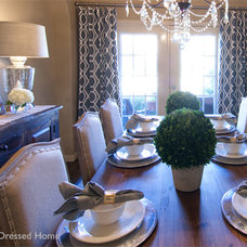 Traditional Dining Room by A Well Dressed Home