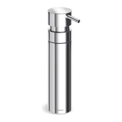 Blomus - Nexio Soap Dispenser - Polished - A clean up committee of one: This soap dispenser can supply you with just the right amount of shampoo, bubble bath, shower gel or dishwashing liquid. Pretty flexible for a simple cylinder of stainless steel, no?