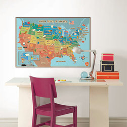 WallPops for Kids - Dry-Erase Kids Map Decal