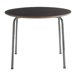 Kartell - Maui Table, Round - Simple splendor for your modern kitchen. From designer Vico Magistretti, the round Maui table features chrome-plated steel legs for a clean, timeless look.