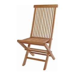 Anderson Teak - CHF101 Classic Folding Chair - Made from the finest solid teak, this chair is strong and durable yet light enough to allow for easy storage. This is a beautiful and functional piece of furniture for your patio or terrace.