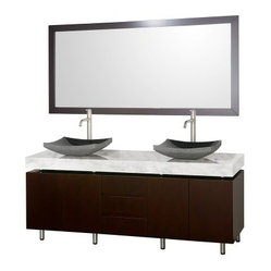 Wyndham Collection Malibu 72-in. Double Bathroom Vanity Set