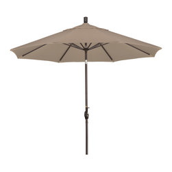 California Umbrella - 9 Foot Olefin Fabric Aluminum Crank Lift Push Tilt Market Umbrella, Bronze Pole - California Umbrella, Inc. has been producing high quality patio umbrellas and frames for over 50-years. The California Umbrella trademark is immediately recognized for its standard in engineering and innovation among all brands in the United States. As a leader in the industry, they strive to provide you with products and service that will satisfy even the most demanding consumers.
