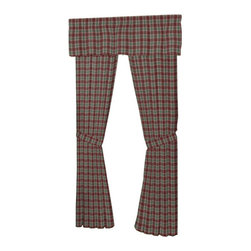 Patch Quilts - Brown and Green Plaid Window Curtain 40 x 80 Inch - Placket 10 Inches - Home Spun,  yarn dyed fabric curtains  - Window treatments complements the Patch Magic Quilt line and bedroom decor   - Machine washable  - Line or Flat dry only  - Valance not included Patch Quilts - CWW154C
