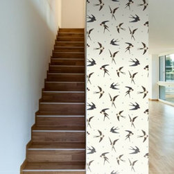 WallsNeedLove Barn Swallows Self-Adhesive Wallpaper - WallsNeedLove Barn Swallows Self-Adhesive Wallpaper is like a tattoo for your walls, only better because it's removable! About Walls Need LovePeel. Stick. Repeat. Walls Need Love started in 2009. They are a small company filled with people-loving sticker fiends. Walls Need Love wants to make your house the stylish dream home you've always wanted and do it with easy-to-use vinyl wall decals. Walls Need Love has been featured in Better Homes and Gardens, Good Housekeeping, USA Today, Fab, and Apartment Therapy.