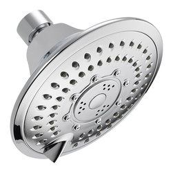 Delta - Delta 5-Setting Touch-Clean Shower Head - 52683 - Getting ready in the morning is far from routine when you're surrounded by a room and in the company of a faucet that reflects your personal style