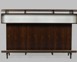 Midcentury Free Standing Bar with Laminate Top, Liquor Storage from Denmark - Vintage 1960s Free Standing Liquor Bar