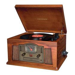 Crosley Radio - Lancaster Entertainment Center - Belt Driven Turntable Mechanism