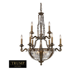 Elk Lighting - Millwood 15-Light Chandelier in Antique Bronze - Millwood reflects formal elegance and upscale design. Delicate leaf motifs and detailed ironwork compliment the distinct crystal pieces. The antique bronze finish with gold highlights accent the intricate detail and classic appeal of the collection.
