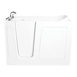 Atlas International Inc - Walk-In Bathtub with Dual Air and Whirlpool Jets - Ariel (Left) - Ariel Walk-In Bathtubs combine safety and convenience. They come with a door and built in seat so you can enjoy a private and relaxing bath experience. Left Sided Walk in Bath Tub