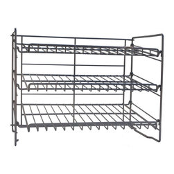 Atlantic - Atlantic Silver Steel Can Rack - Atlantic's silver steel can rack features three angled shelves with ample room for storing and retrieving cans. The can rack's compact size ensures an easy fit into most cabinets and pantry shelves. Assembles easily with no tools required.