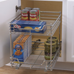 Chrome Two-Tier Sliding Cabinet Organizer -