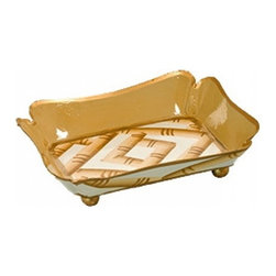 Bamboo Cream And Gold Trinket Tray - Beautiful Tray made from Bamboo Cream And Gold Trinket that your guest as well as you will like