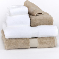 "Towels by G.U.S. - Hotel Collection Organic Cotton Bath Towel, White, Bath Sheet - Made right here in the USA. These classic hotel style, organic towels hail from our Southern Peach State of Georgia. These towels come in two beautifully defined color lines and are accented with a classically detailed 2.5"" borders. These towels are the ultimate choice for high traffic bathrooms. For years, national hoteliers have been turning to this sturdy towel to enhance the comfort of their guests and now, you can too."