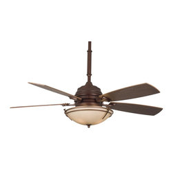 Fanimation - Fanimation Hubbardton Forge Presidio Tryne Ceiling Fan in Mahogany - Fanimation Hubbardton Forge Presidio Tryne Model HF6600MH in Mahogany with Coffee Finished Blades. Included fixture with Stone Glass for the Hubbardton Forge Presidio Tryne.