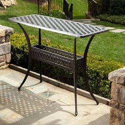 Alfresco Home Cast Aluminum Outdoor Sideboard Console Table - *Can be used indoors or out.