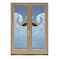 Glass Front Entry Doors Frosted Glass Obscure High
