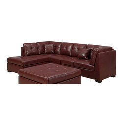 Monarch Specialties - Monarch Specialties 8360RD Sectional in Red - Sectional 1