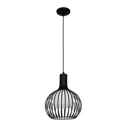 Access Lighting - Chuki 23436 - Pendant Lamp | Access Lighting - Access Lighting Chuki 23436 pendant lamp features opal glass and either black, bronze, or white hardware finish.10ft Cord (black with BL and BRZ, white with WH) Manufacturer: Access LightingSize: 11.5 in. diameter x 14.5 in. height x 22 in. to 135 in. heightLight Source: 1�x 75W E-26 G-40 Incandescent [800Lm, 2700k]- not includedLocation:�DampCertifications: CETL