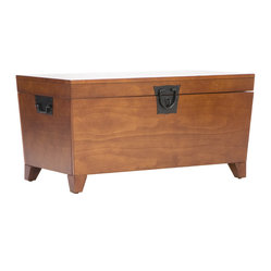 Holly & Martin - Dorset Trunk Cocktail Table - Furniture purists will drool over this coffee table and storage trunk in one made of real wood. Its functionality and character will solidify its place as a well-loved member of your family.