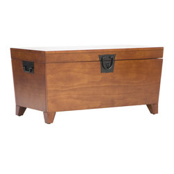 Holly & Martin - Dorset Trunk Cocktail Table, Oak - Furniture purists will drool over this coffee table and storage trunk in one made of real wood. Its functionality and character will solidify its place as a well-loved member of your family.