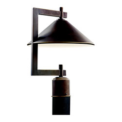 Kichler Lighting - Kichler Lighting 49063OZ Ripley 1 Light Post Lights & Accessories in Olde Bronze - Outdoor Post Mt 1Lt