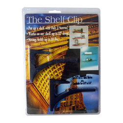 "Expo Design Inc - The Shelf Clip for 3/8""-1/2"" thick shelves, Satin Black - For 3/8""-1/2"" thick shelves (usually glass, plastics, corian TM). Simple one piece design supports a shelf with a cantilevered arch. Installs any shelf up to 12� deep with just 2 screws! Strong, extruded aluminum supports up to 80lbs also available in kits, pre packed with glass shelf."