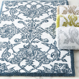 "Horchow - Giverny Bath Rug 20"" x 31"" - PLATINUM (GRAY) (BATH RUG 20X31) - Giverny Bath Rug 20"" x 31"""