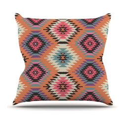 "Kess InHouse - Amanda Lane ""Navajo Dreams"" Orange Pink Throw Pillow (26"" x 26"") - Rest among the art you love. Transform your hang out room into a hip gallery, that's also comfortable. With this pillow you can create an environment that reflects your unique style. It's amazing what a throw pillow can do to complete a room. (Kess InHouse is not responsible for pillow fighting that may occur as the result of creative stimulation)."