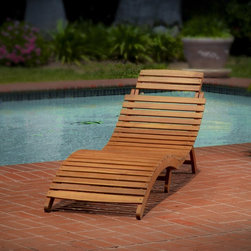 Best Selling Home - Lahaina Wood Outdoor Chaise Lounge - 237520 - Shop for Chaise Lounges from Hayneedle.com! The Lahaina Wood Outdoor Chaise Lounge is a stylish way to enrich your patio deck garden or poolside area with shapely modern style. Crafted from durable wood this eye-catching chaise lounge is a comfortable way to soak up the summer sun in style. The classic slatted design complements the modern ergonomic shape that contours for comfort. Push-button release allows for quick and easy storage and the adjustable headrest ensures a relaxing place for anyone to rest.About Best Selling Home Decor Furniture LLCBest Selling Home Decor Furniture LLC is a US-based company dedicated to providing you with a wide variety of fine furniture. With sales and manufacturing offices in Europe and China as well as the ability to ship to anywhere in the world no one is excluded from bringing these lovely pieces home. From outdoor to indoor furniture children's furniture to ottomans and home accessories all your needs will be met with attractive high quality products that will last.