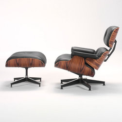 Eames® Lounge Chair with Ottoman - The Eames Lounge Chair and Ottoman are considered among the most significant and collectible furniture designs of the 20th century. The rich veneer and supple leather suggest old-fashioned luxury translated into modern forms, setting an enduring standard for comfort and elegance.