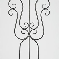 AA Importing - Scrolled Metal Trellis in Dark Gray Finish wi - Add a playful, distinctive element to your garden decor with this scrolled metal trellis, ideal for vines, morning glories or other trailing flowers or plants. The trellis has a tripod style base and is finished in dark gray. It stands 73 inches in height. Metal construction. 23.5 in. L x 5 in. W x 73 in. H