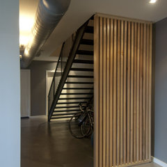 modern staircase by Intexure Architects