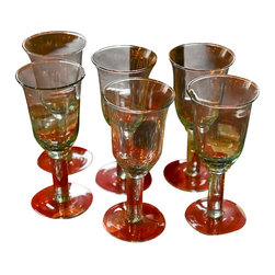 Europe 2 You - Mouthblown Goblet White Wine Set - Fashioned entirely of vintage recycled glass, each of these 'Europe 2 You' white wine goblets is mouthblown into original molds from the 19th century. Our adherence to tradition results in a collection of glasses that are as pleasing to the hand as they are to the eye.