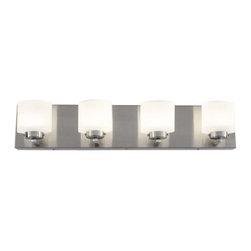 Alternating Current - Alternating Current AC1144 Clean 4 Light LED ADA Compliant Bathroom Vanity Light - Features: