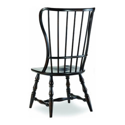 Hooker Furniture - Hooker Furniture Set of 2 Sanctuary Spindle Ebony Side Chair 3005-75310 - Hooker Furniture Set of 2 Sanctuary Spindle Ebony Side Chair 3005-75310
